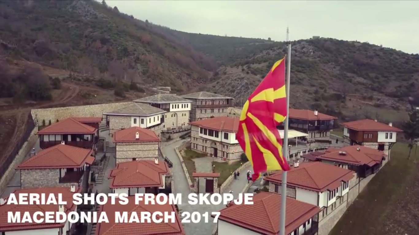 Странците се заљубени во Скопје  Ново видео од Скопје направено со дрон