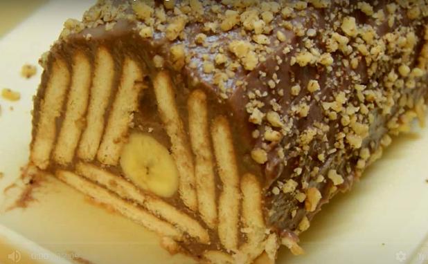Мозаик колач од пудинг и банани
