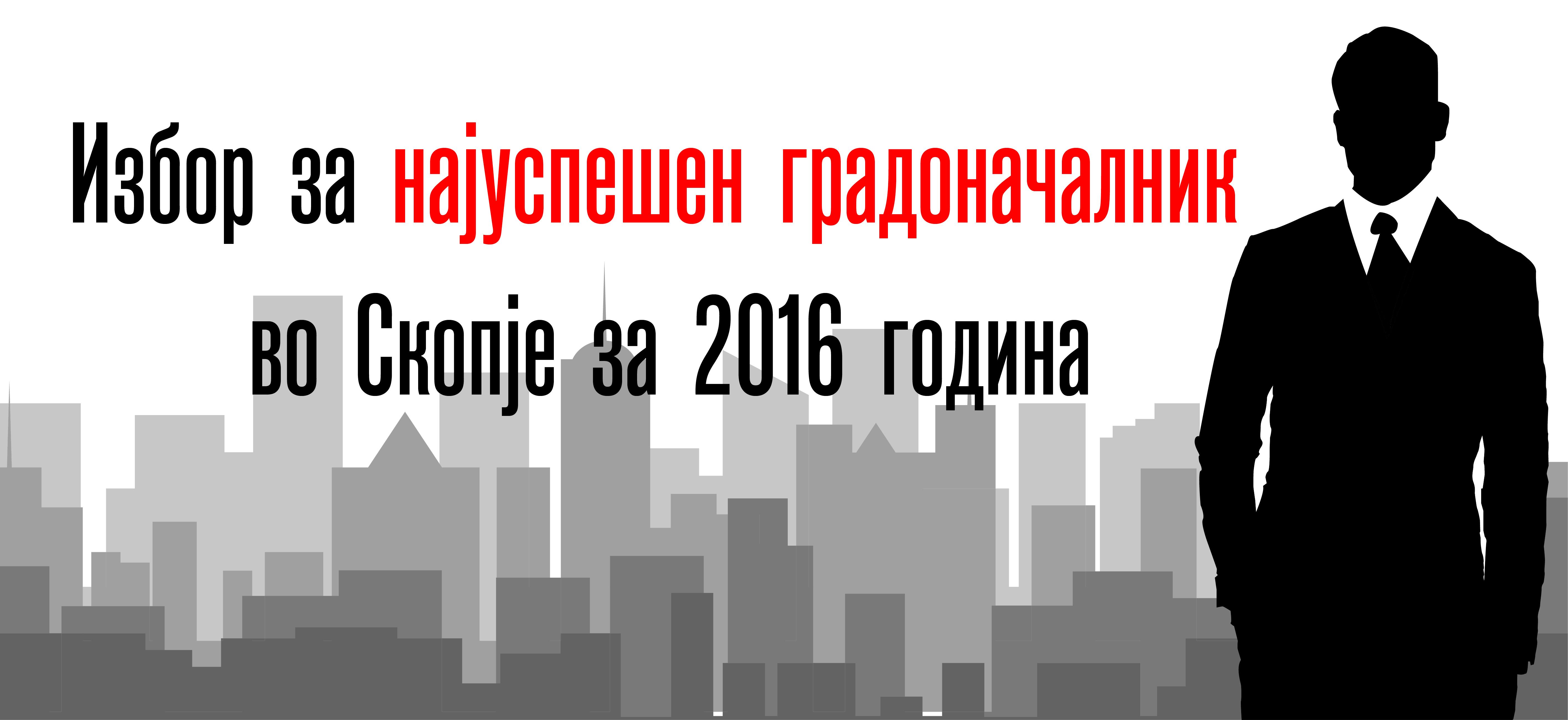 Анкета за избор на најуспешен градоначалник за 2016 година во Скопје