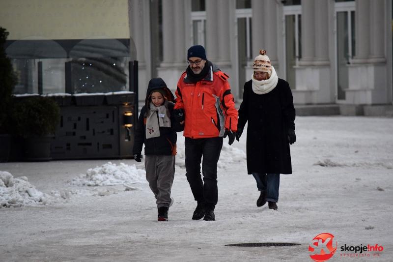 Вонредна временска прогноза  Нов снежен бран доаѓа кон Македонија