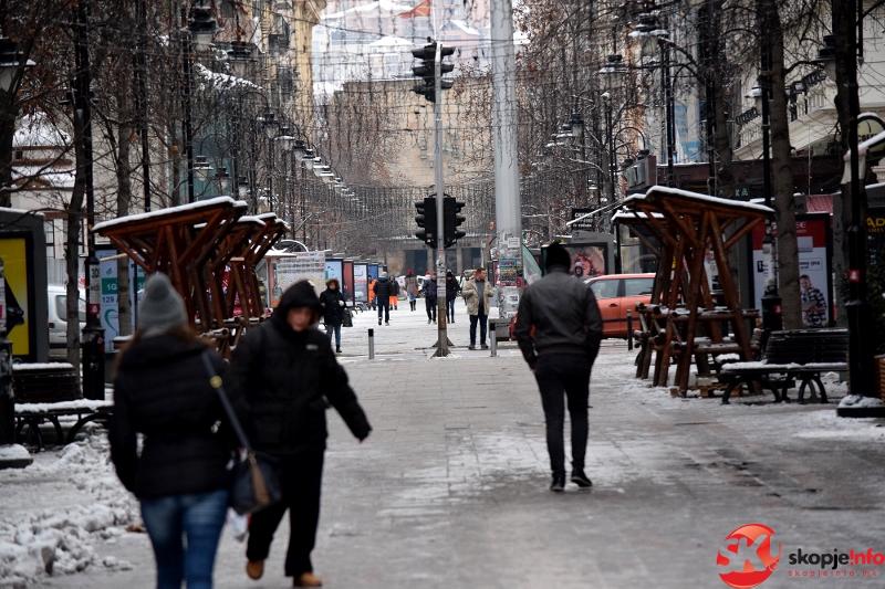 Скопје најстуден град   следува период на нестабилно време