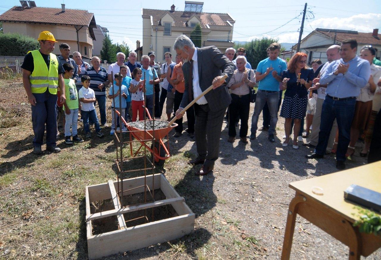 Камен темелник на нова градинка за малите дечиња од Бардовци