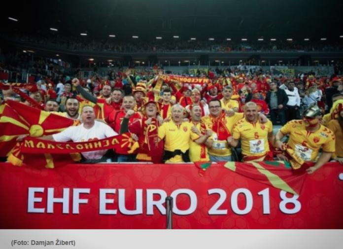 Овој македонски навивач ги привлече сите погледи во загрепската  Арена